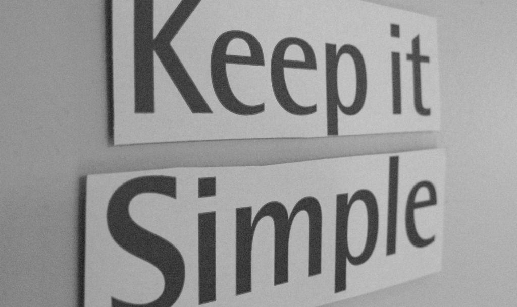 Faire plus simple